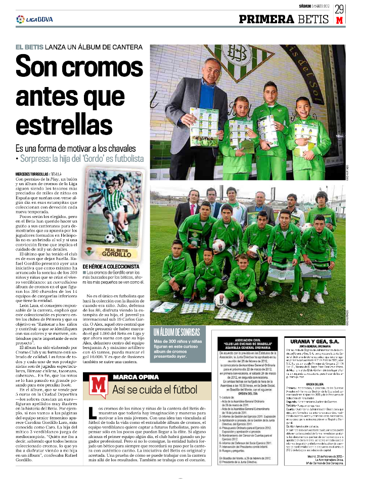Cromo Club en Diario Marca